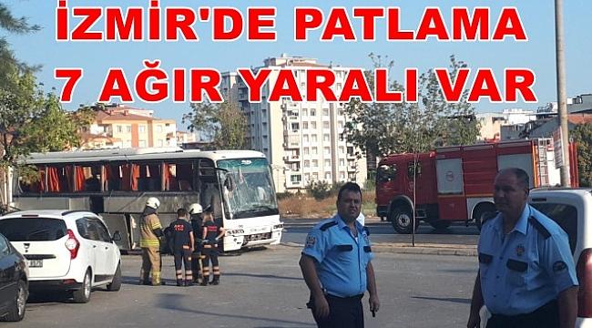İzmir'de Çöp Konteynırına Yerleştirilen Bomba, Servis Aracı Geçerken Patladı: 8 Yaralı var