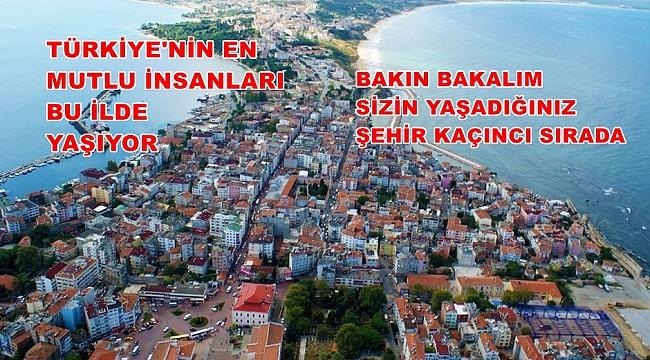 TÜRKİYE'NİN EN MUTLU ŞEHİRLERİ!