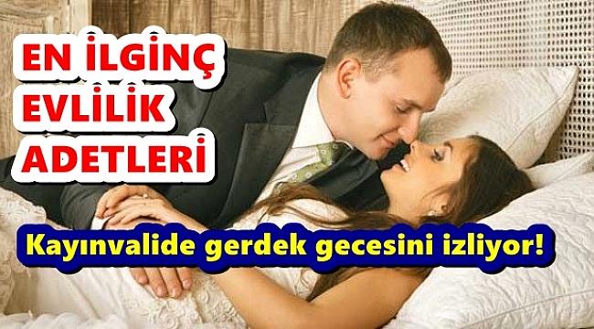 KAYINVALİDE GERDEK GECESİNE ŞAHİT OLUYOR!