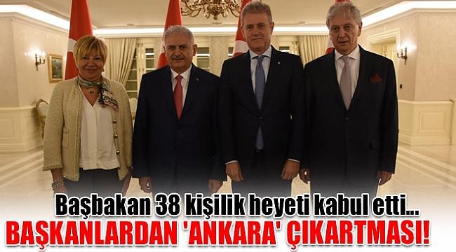 İTO, EBSO ve İTB Yönetimi Ankara'daydı