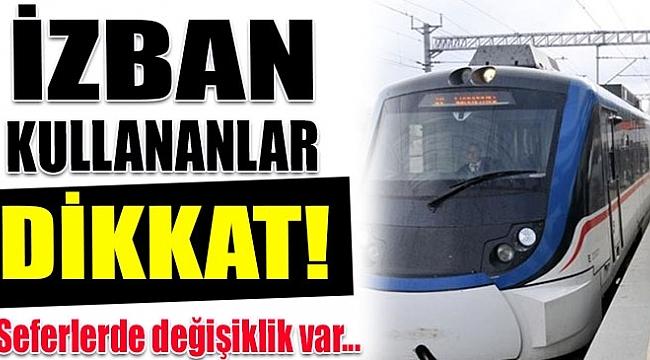 İZMİR'DE İZBAN TARİFELERİ DEĞİŞTİ...