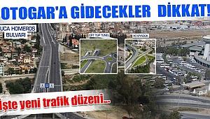 Otogar ve çevresine yeni trafik düzeni