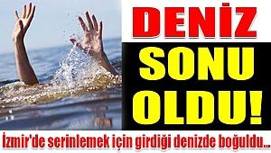 ÇEŞMEALTI'NDA DENİZE GİRDİ BOĞULDU...