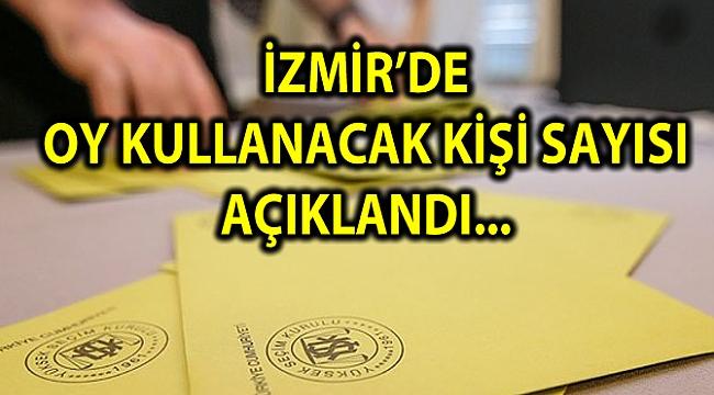 İZMİR'DE OY KULLANACAK KİŞİ SAYISI AÇIKLANDI...