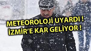 METEOROLOJİ UYARDI ! İZMİR'E KAR GELİYOR !