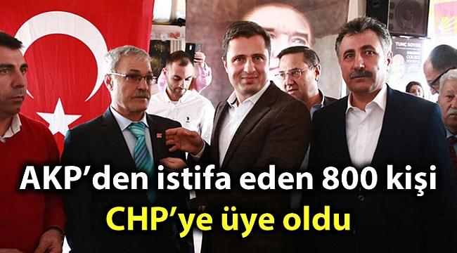 AKP'den istifa eden 800 kişi CHP'ye üye oldu