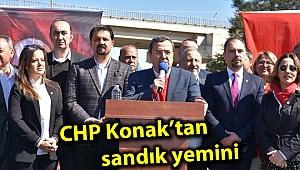 CHP Konak'tan sandık yemini
