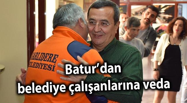 Batur'dan belediye çalışanlarına veda