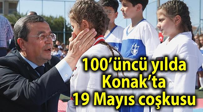 100'üncü yılda Konak'ta 19 Mayıs coşkusu