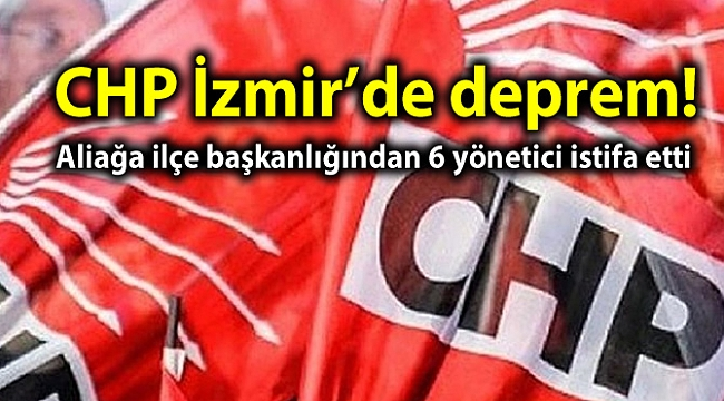CHP İzmir'de deprem!
