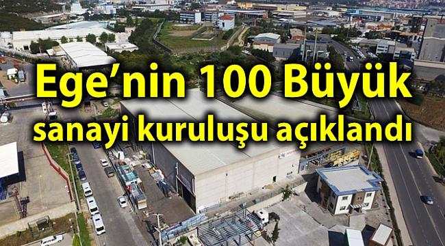 Ege'nin 100 Büyük sanayi kuruluşu açıklandı