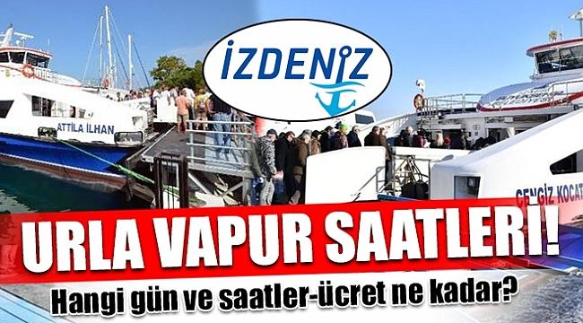 URLA VAPUR SEFERLERİ HAFTA SONU BAŞLIYOR