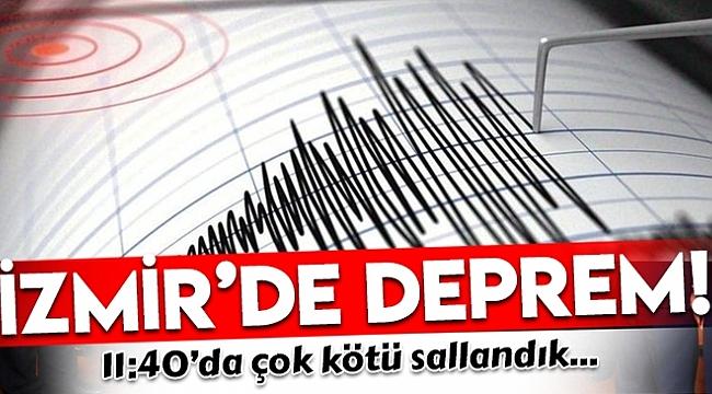 İZMİR 5.1 İLE SALLANDI