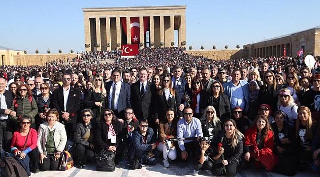 KARŞIYAKA, ANITKABİR'DEYDİ
