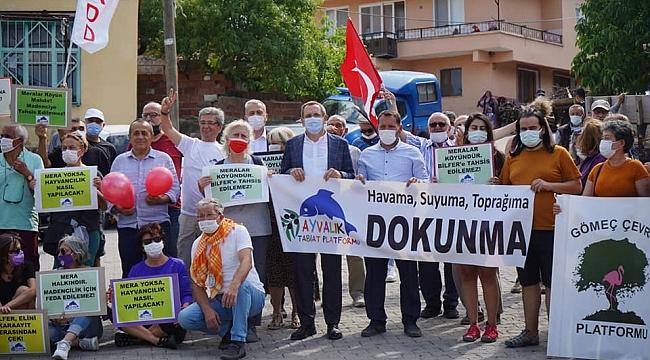 AYVALIK KARAAYIT KÖYÜ'NDE MERA PROTESTOSU
