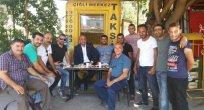 Başkan Arslan'dan taksicileri ziyaret