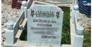Kocasının mezarına öyle bir şey yazdı ki!!!
